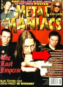 Metal Maniacs Pentagram Article