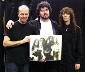 John Jennings, Geof O'Keefe and Vincent McAllister of Pentagram