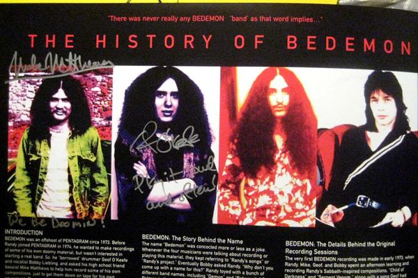 Bedemon CoD Signed LPs